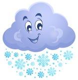 Imagen 1 del tema de la nube del invierno ilustración del vector