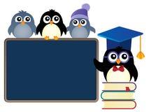 Imagen 1 del tema de los pingüinos de la escuela ilustración del vector