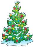 Imagen 7 del tema del árbol de navidad Foto de archivo