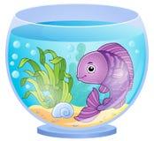 Imagen 6 del tema del acuario ilustración del vector