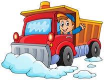 Imagen 1 del tema del arado de la nieve ilustración del vector