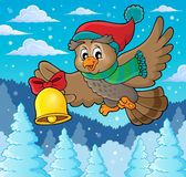 Imagen 3 del tema del búho de la Navidad Fotos de archivo
