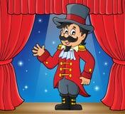Imagen del tema del director de pista de circo del circo Imagen de archivo libre de regalías