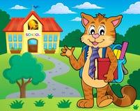 Imagen 2 del tema del gato de la escuela Imagen de archivo libre de regalías