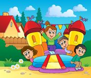 Imagen 1 del tema del juego y de la diversión Imagen de archivo