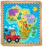 Imagen 4 del tema del mapa de África Imagen de archivo libre de regalías