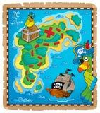 Imagen 9 del tema del mapa del tesoro Foto de archivo