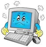 Imagen 1 del tema del ordenador stock de ilustración