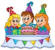 Imagen 1 del tema del partido de los niños Imagen de archivo libre de regalías
