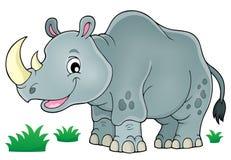 Imagen 1 del tema del rinoceronte Fotografía de archivo