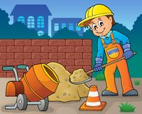 Imagen 6 del tema del trabajador de construcción Imagen de archivo