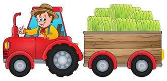 Imagen 1 del tema del tractor Foto de archivo