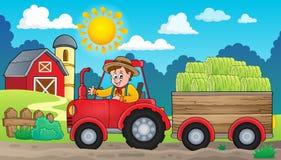 Imagen 4 del tema del tractor Fotos de archivo