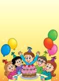 Imagen 2 del tema del partido de los niños Fotos de archivo libres de regalías