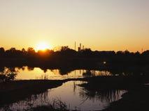 Imagen del tiempo de la puesta del sol fotografía de archivo libre de regalías