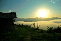 Imagen del valle de la niebla Imágenes de archivo libres de regalías