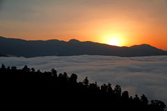 Imagen del valle de la niebla Imagenes de archivo