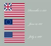 Imagen del vector de la bandera americana Imagenes de archivo