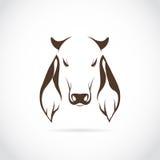Imagen del vector de la cabeza de la vaca Imágenes de archivo libres de regalías