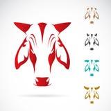 Imagen del vector de la cabeza de la vaca Fotos de archivo libres de regalías