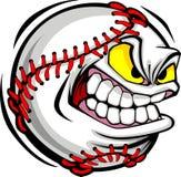 Imagen del vector de la cara de la bola del béisbol Imagen de archivo libre de regalías