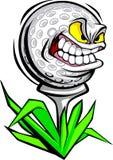 Imagen del vector de la cara de la pelota de golf Fotografía de archivo