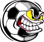 Imagen del vector de la cara del balón de fútbol Fotos de archivo libres de regalías