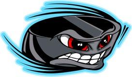 Imagen del vector de la cara del duende malicioso de hockey Imagenes de archivo