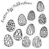 Imagen del vector de la colección del huevo de Pascua ilustración del vector