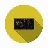 Imagen del vector de la fuente de alimentación del ordenador Imágenes de archivo libres de regalías