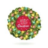 Imagen del vector de la guirnalda de la guirnalda de la Navidad Imagenes de archivo