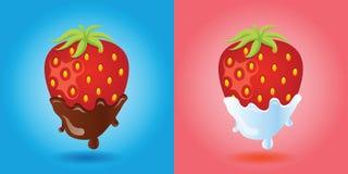 Imagen del vector de las fresas Imagenes de archivo