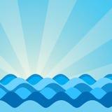 Imagen del vector de las ondas del mar