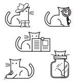 Imagen del vector de los gatos para comercializar y las presentaciones libre illustration