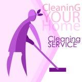 Imagen del vector de mujeres Limpieza, limpiando ilustración del vector