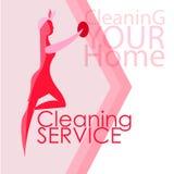 Imagen del vector de mujeres Limpieza, limpiando stock de ilustración