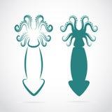 Imagen del vector de un calamar Imágenes de archivo libres de regalías