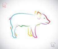 Imagen del vector de un cerdo Foto de archivo libre de regalías