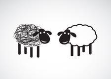 Imagen del vector de un diseño de las ovejas Foto de archivo libre de regalías