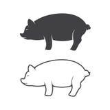 Imagen del vector de un diseño del cerdo Foto de archivo libre de regalías
