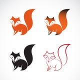 Imagen del vector de un diseño del zorro Imagen de archivo libre de regalías