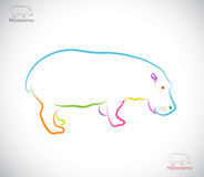 Imagen del vector de un hipopótamo Fotografía de archivo libre de regalías