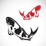 Imagen del vector de un koi de la carpa ilustración del vector