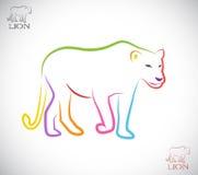 Imagen del vector de un león femenino Imagen de archivo libre de regalías