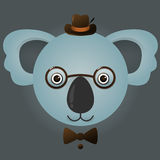 Imagen del vector de un oso de koala del inconformista Imagenes de archivo