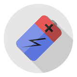 Imagen del vector de una batería Fotografía de archivo libre de regalías