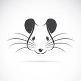 Imagen del vector de una cabeza de la rata Fotografía de archivo libre de regalías