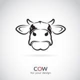 Imagen del vector de una cabeza de la vaca Imagen de archivo libre de regalías