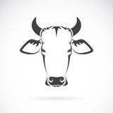 Imagen del vector de una cabeza de la vaca Imagen de archivo