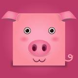 Imagen del vector de una cabeza del cerdo Imágenes de archivo libres de regalías
